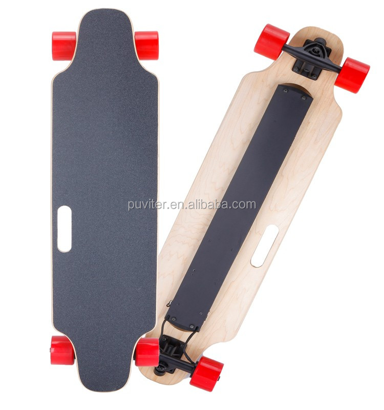 2017 NEW boosted electric skateboard Longboard 4 wheels Remote control double drive skate board dual motor skate board (ESK05)
