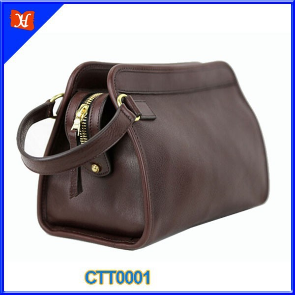 Custom Classy Mens Genuine Leather Man Travel Toiletry Bag