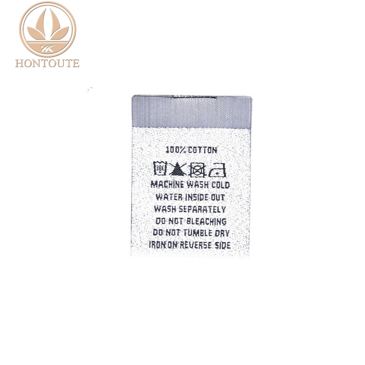 China factory manufacture wash care label woven clothing label