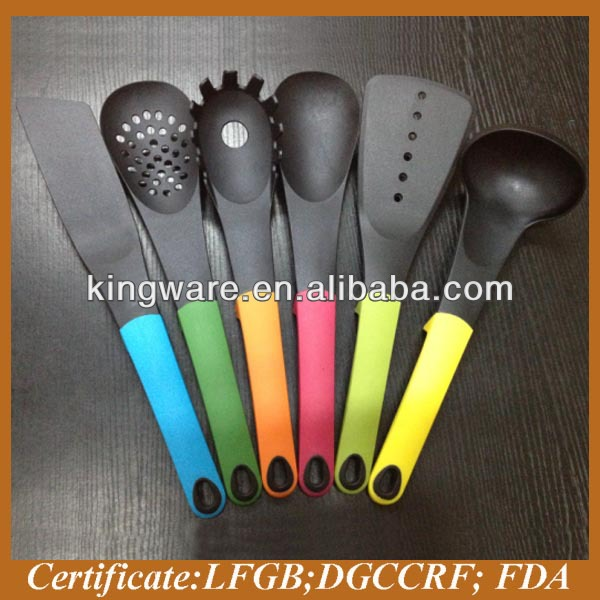 2014 hot sale colorful handle Nylon kitchen utensil