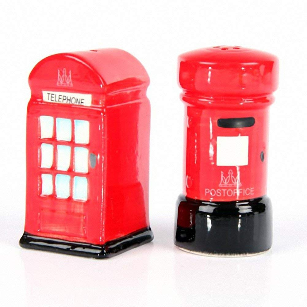 Ceramic London Salt & Pepper Set, Post & Telephone Box