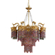 Chinese Manufacturer Luxury Pendant Chandelier Lamp with Colorful crystal beads and Copper Pendant Light
