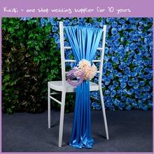 MP0821G hot style cheap chair covers satin ruffle chair sashes for wedding