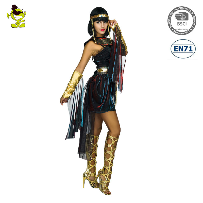 Wholesales Sexy Ancient Egyptian Costume Halloween Carnival Party Egyptian Queen Costume For Women