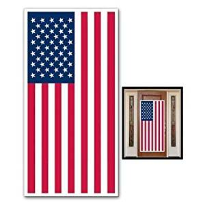 "USA FLAG - DOOR COVER - Banner - PATRIOTIC Party DECORATIONS -DECOR -4th of JULY -Indoor OUTDOOR 30"" x 60"" - BARBECUE - Cookout PARTIES"