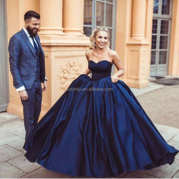 ad30bfc67 2018 Azul Marinho Elegante Baratos Prom Vestido Longo Mulheres Vestido  Formal Vestido de Formatura