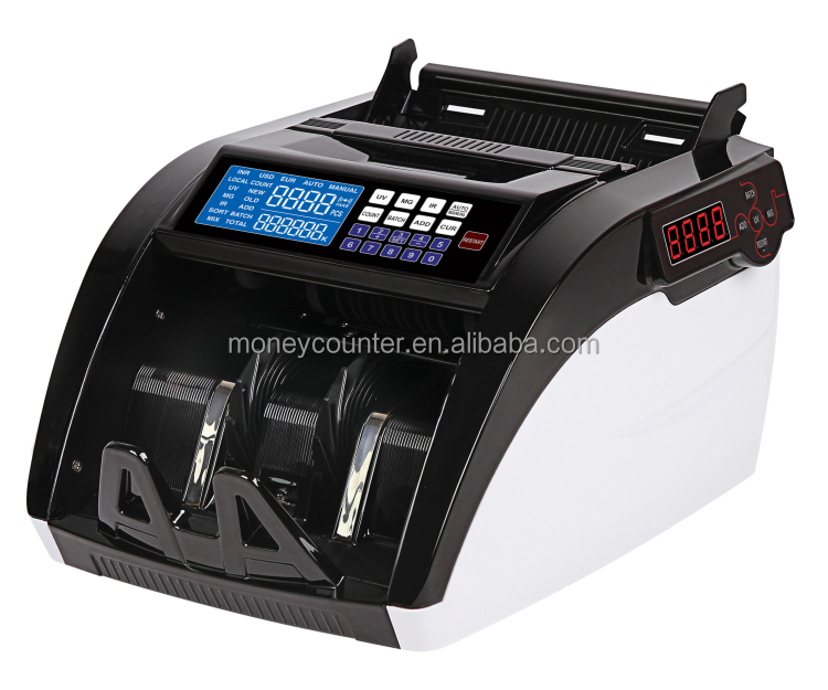 AL-6100A Banknote Counter With UV MG IR Detection Suitable For Most Currencies
