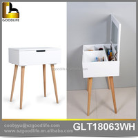 Foshan experienced manufacturer white dressing table mirror with drawer