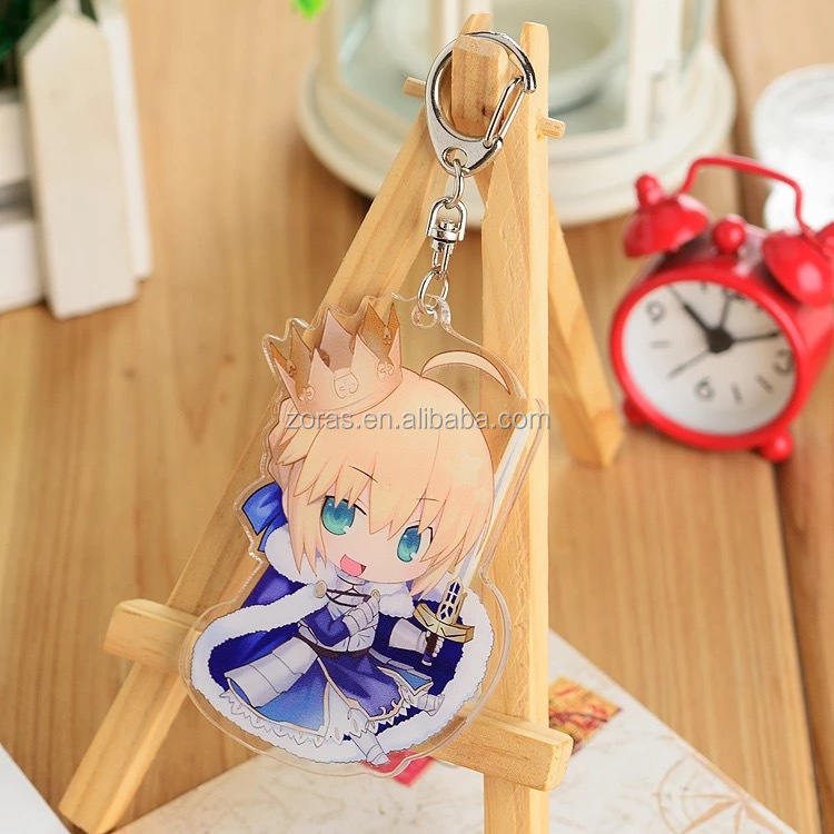 Cheap Acrylic Keychain Manufacturers Wholesale Transparent Plastic Printing Custom Acrylic Charm Acrylic Charm Gold