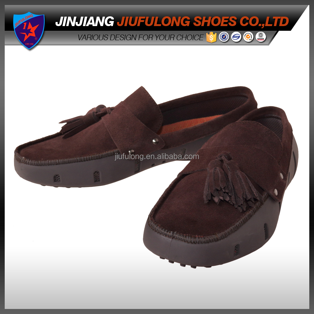 Top Leather Carf Moccasin Penny Loafer Rubber Swims Shoe`