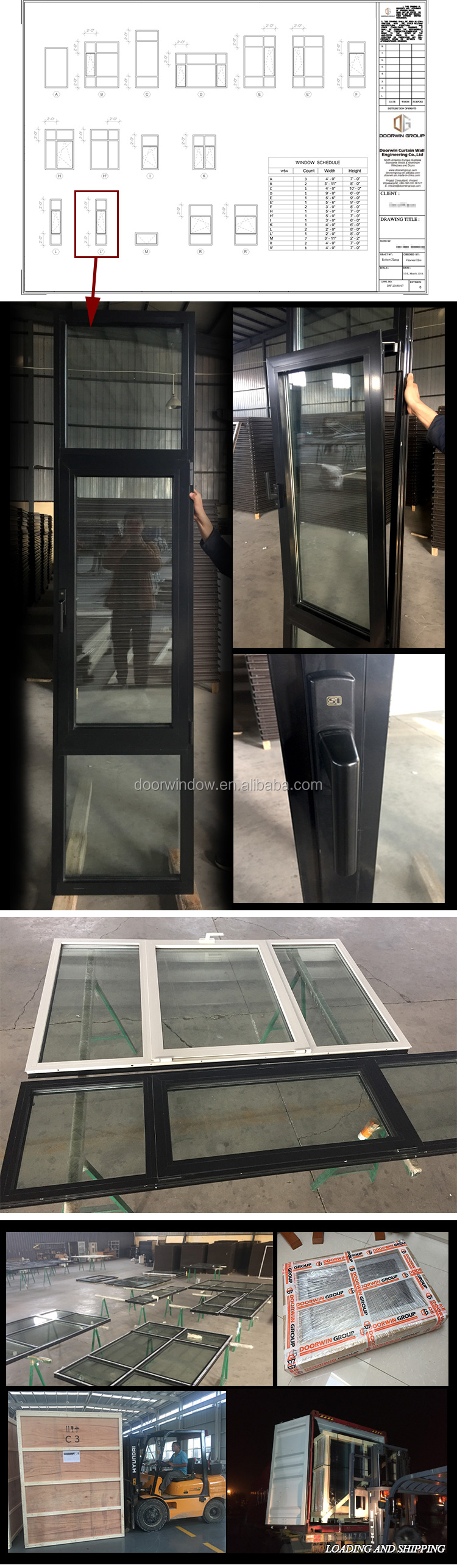 Glass and aluminum curtain wall exterior wall panels building walls