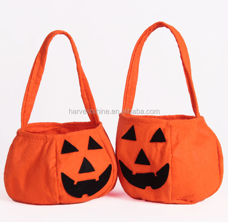 Halloween Pumpkin Bag Kids Candy Bag For Halloween Party Costumes