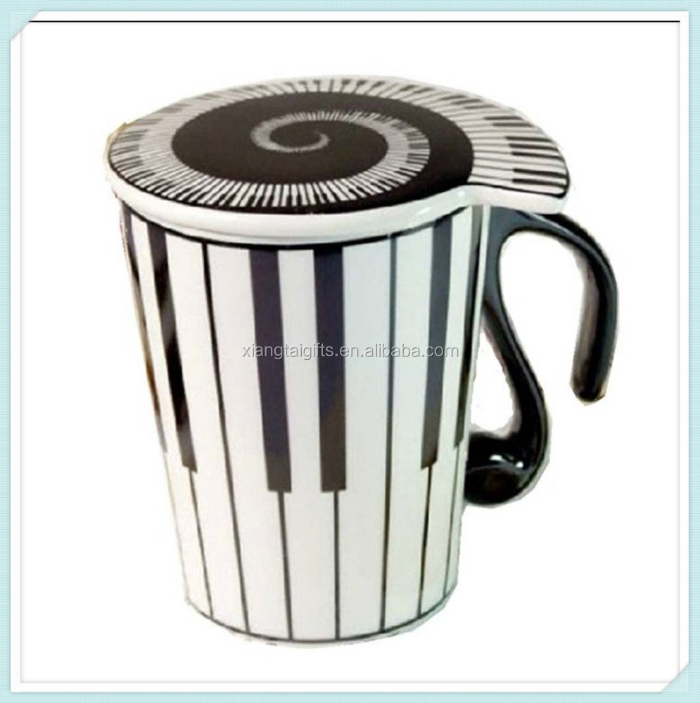 Piano Keys Coffee Mug With A Lid Best Gift