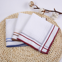 Cotton White Men High Quality Satin Wholesale Handkerchief