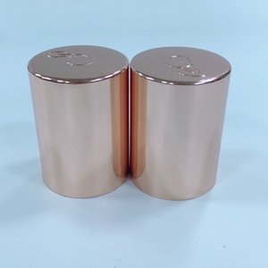 Rose Gold Aluminum Lid Anodized Polished Aluminum Cap For Candle