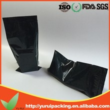 Flat Clear Black Zip Lock Bags With Hang Hole Reclosable Plastic Packing Pouches