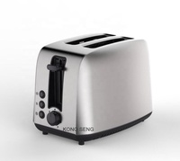 Classic Vintage Toaster 2 Slice 2 Slot Toaster Stainless Steel Toaster With GS/CE/CB/ROHS/EMC