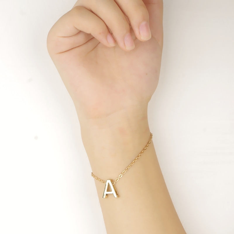 26 Letters DIY <strong>Accessories</strong> Lucky Happy Love Meaningful Words Jewelry Design Letter Bracelet