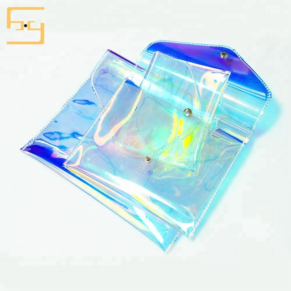 Wholesale Pouch And Gusset Bag Online Buy Best Polybag 10x20 Printed Waterproof Holographic Pvc Cosmetic