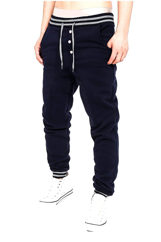 Abetteric Mens Outdoor Pocket Plus Size Solid Jogger Pant Trousers