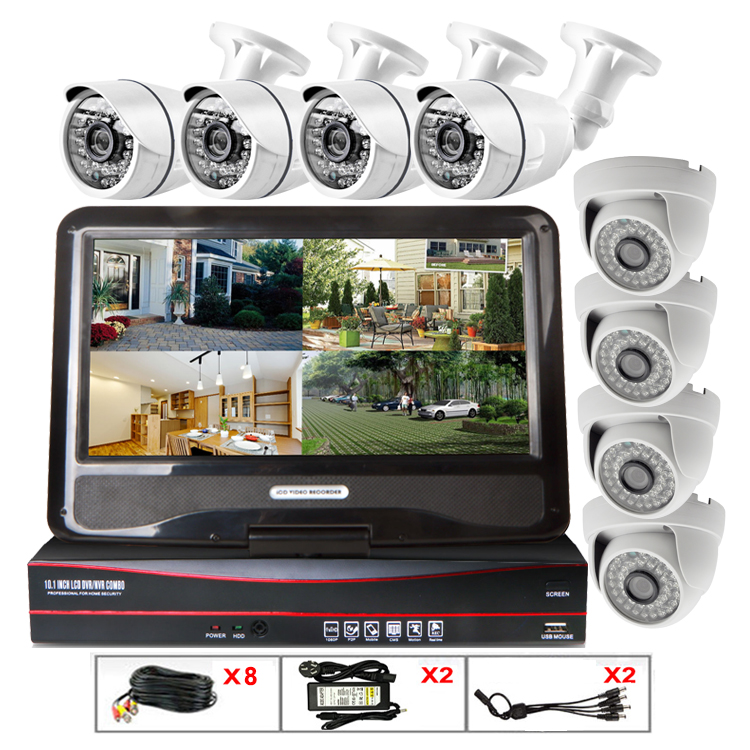 hd 8ch ahd dvr kit with screen home security system