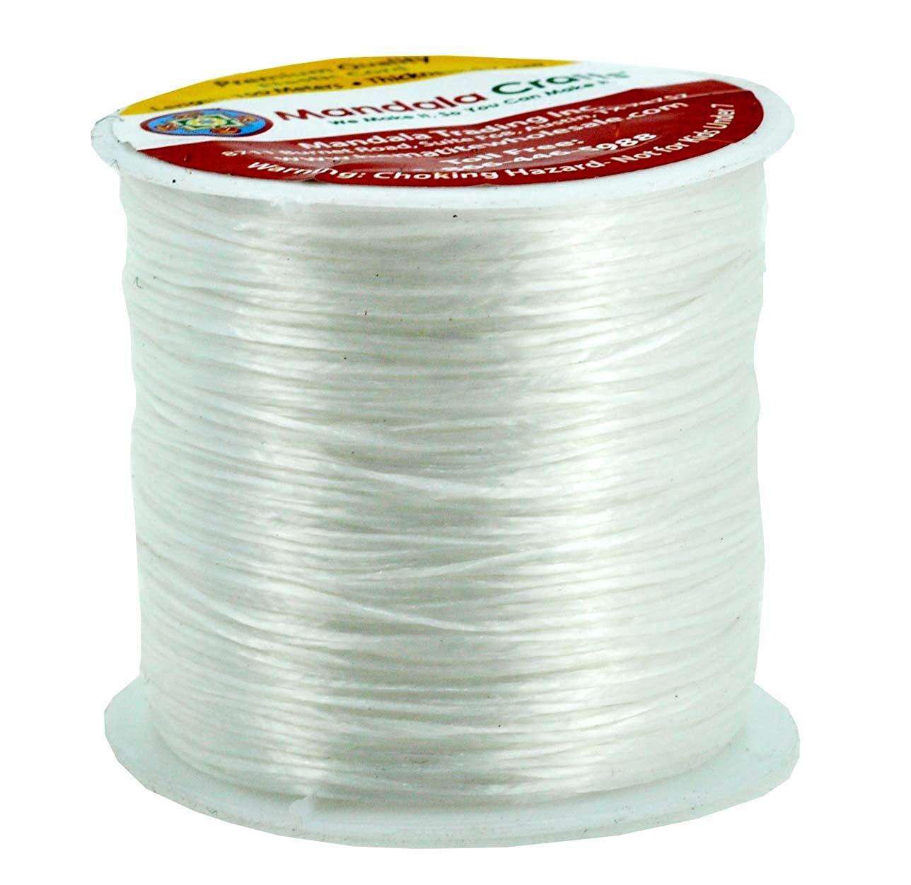 65 Yards Bead String Black Bracelet String Mandala Crafts/Â Elastic Crystal String 0.6mm