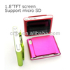 "1.8""TFT screen Support micro SD free music downloads for mp4 players"