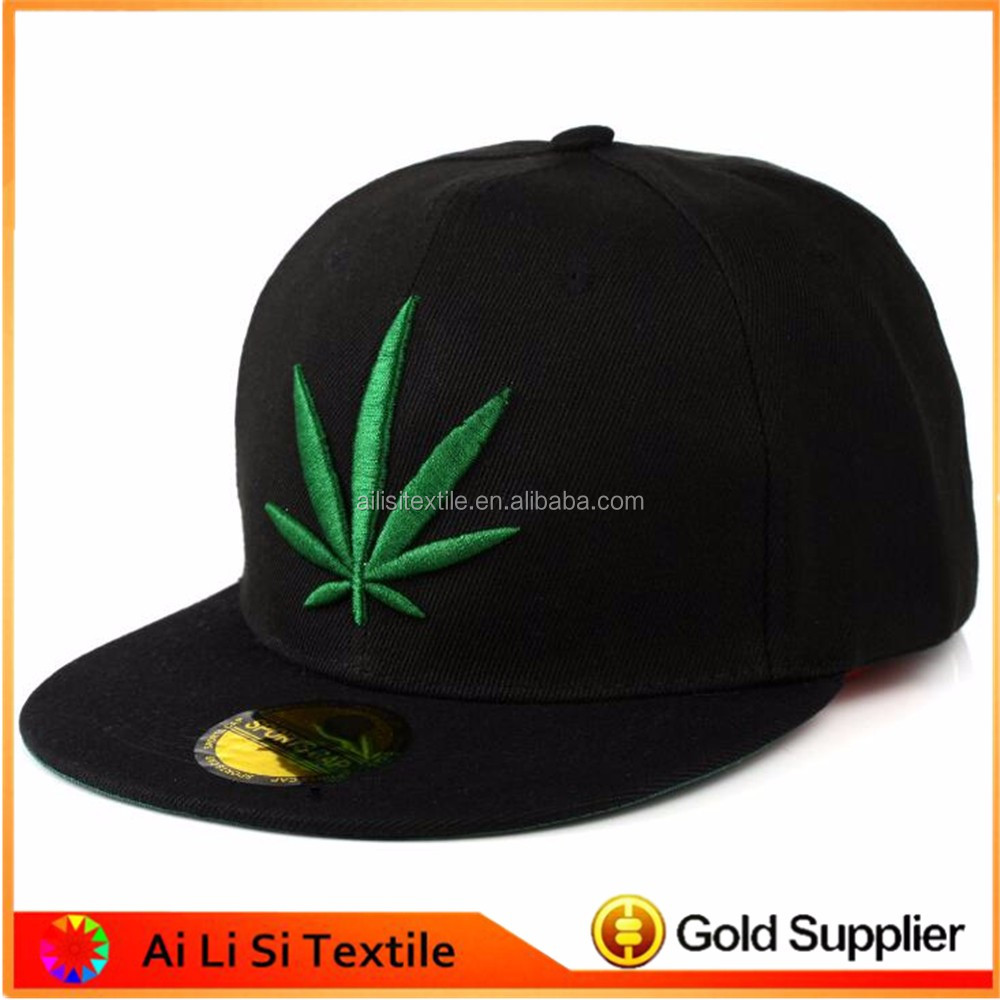 Weed Lead Printed Design Snapback Adjust Flat Cotton Hats, Fashion Design Embroidered Snapback Hat,Hip Hop Snapback Caps