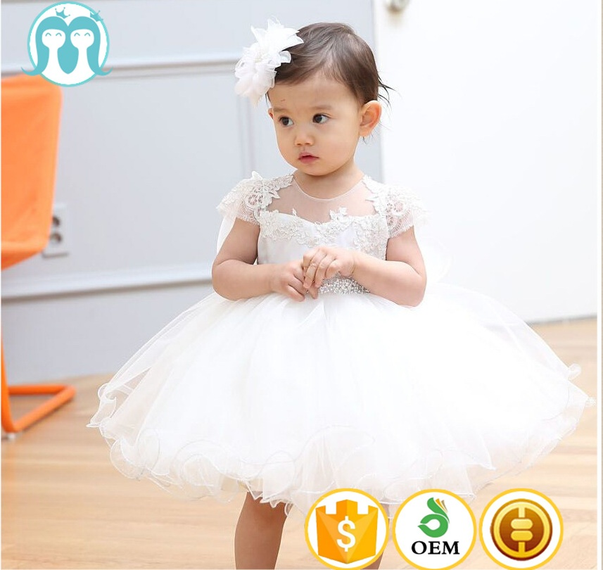 2017 infant dress white hats with ears ponce frocks short sleeve dress