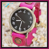 2013 new wrist fashion watch manufacturers usa with constellation number leather band special style hot in US