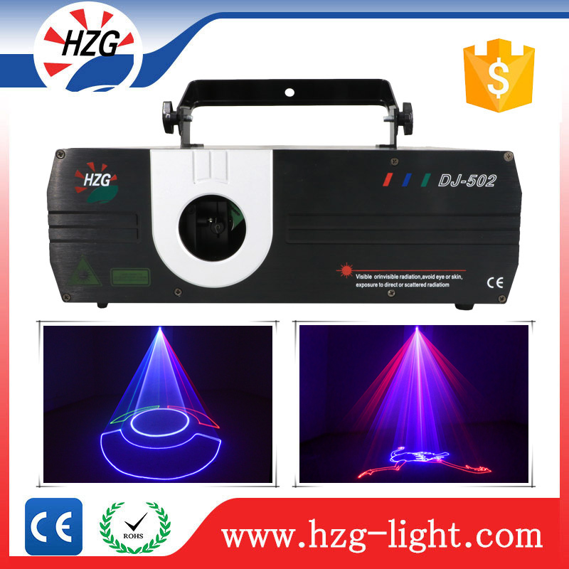 Professional programmable laser projector 1W full color rgb laser light with animation effect