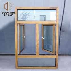Professional aluminum clad wood tilt and turn window wooden windows aluminium
