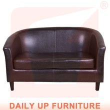 Double Seats Sofa Top High Quality PU Lounge with Arm Modern Leather Office Waiting Chair Living Room Furniture