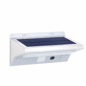 New item 21 LED big panel stainless steel Solar power LED Motion Sensor smart wall lights and lighting