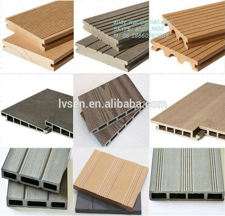 Durable Water Proof Outdoor Wood Plastic Composite Deck WPC Floor Passed CE
