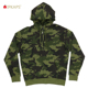2019New Style Hot Sell Cotton French Terry Custom Camo Printing Pullover Men Zip Up Hoodie