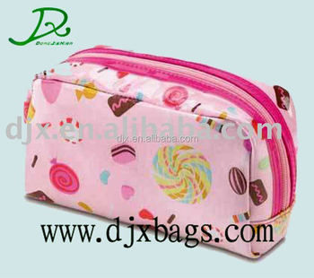 Lady Cosmetic Bag Makeup Pouch Handbag Clutch Purse