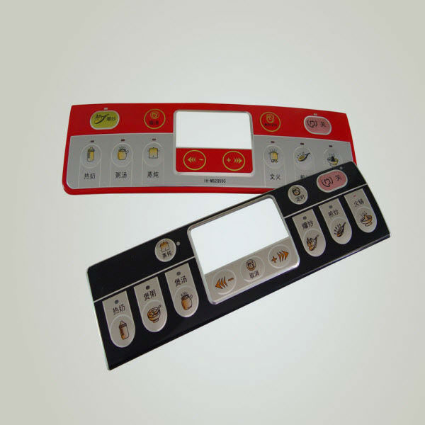 glossy or matte flat electronic membrane switch