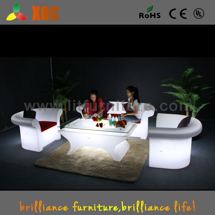 Factory direct sales living room sofa sets lighted bar hotel sofa furniture
