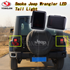 Pair LED Reverse Brake Tail Lights With USA Standard Plugs For 07-15 JEEP JK WRANGLER Car Light Replacement LIght