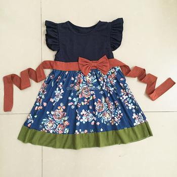 a99649825 Bowknot Floral Remake Boutique Conjuntos De Ropa Para Niños Azul Marino De  Moda,De La Fábrica De China,Niña Ropa Trajes - Buy Ropa De Niña,Ropa De ...