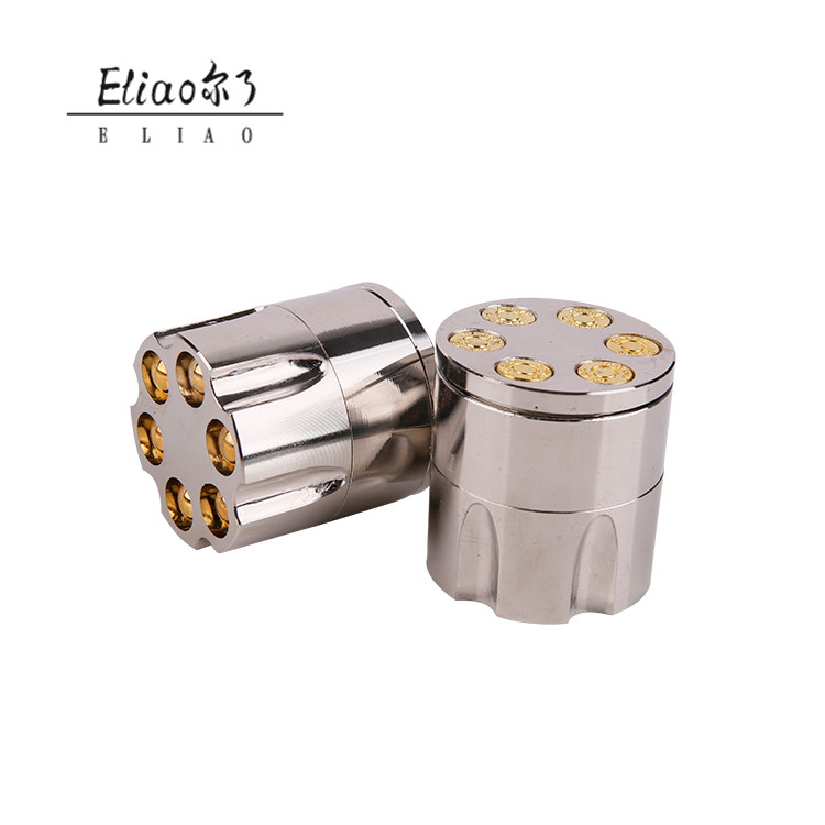 Erliao 3 Layers Mental Herb Grinder Zinc Alloy Crusher Hand Muller for Smoke Tobacco Pipe