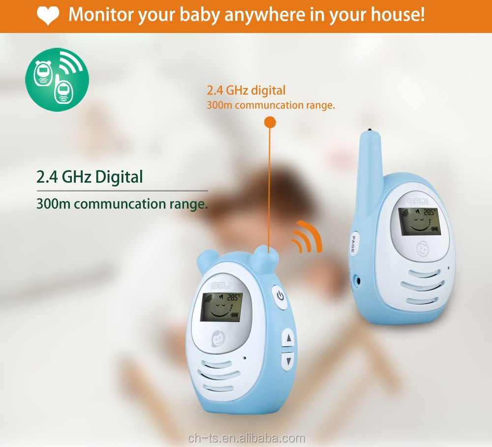 SBJ 2.4GHz digital baby electronics intercom radio wireless child monitor nanny