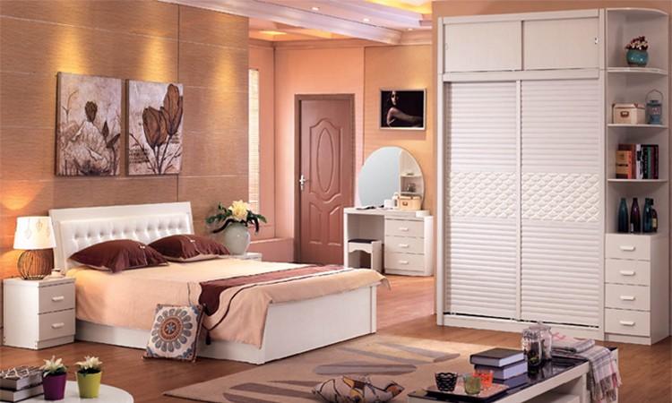 Italiano de lujo madera cama matrimonial conjunto de muebles de ...