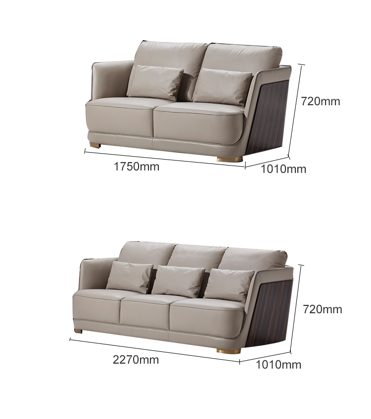 High luxury Italian home furniture genuine living room leather sectional  modern couch sofa set