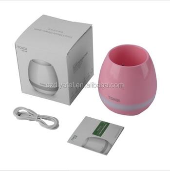 office flower pots. plastic white pink blue cute music bluetooth speaker flower pot planter nursery pots for home office