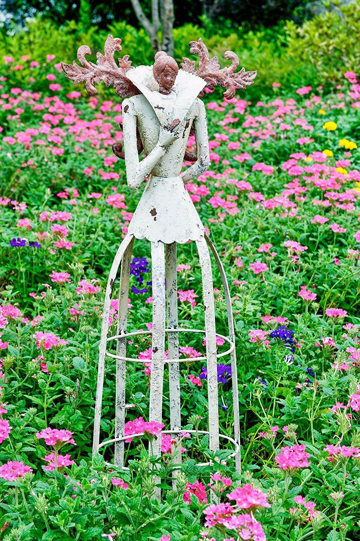 Attraction Design Antiqued Metal Weathered Metal Garden Angel Statue