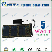 5W PET laminated Solar Charger bag for mobilephone