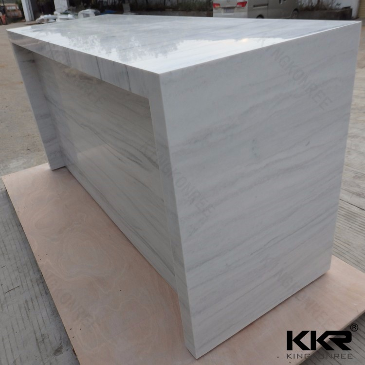 solid surface triangle table bar top