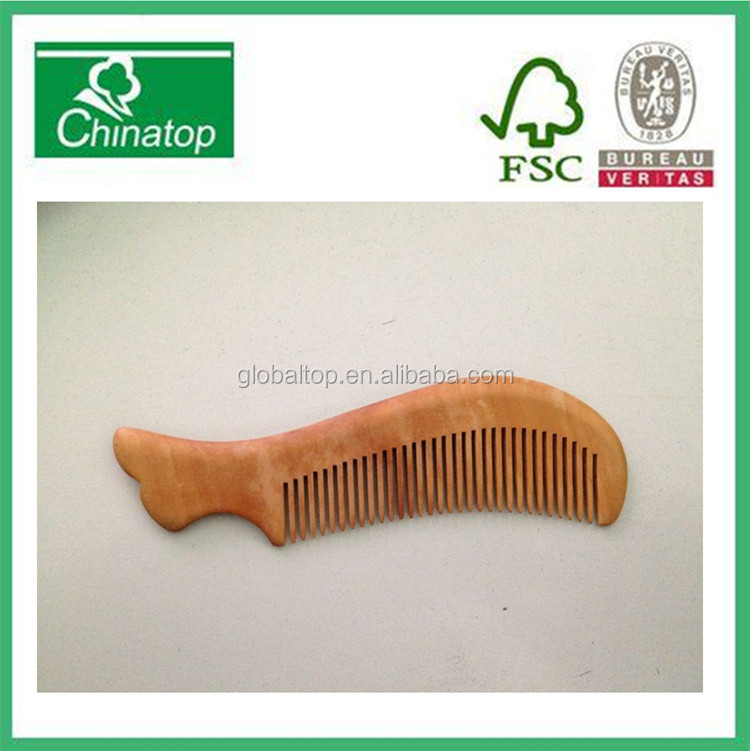 2014 gift fashion natural wooden hair combs,promotion gifts,,manufacturer,professional wooden comb WHC006